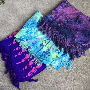 Scarf and/or Sarong Bundle - Includes 3